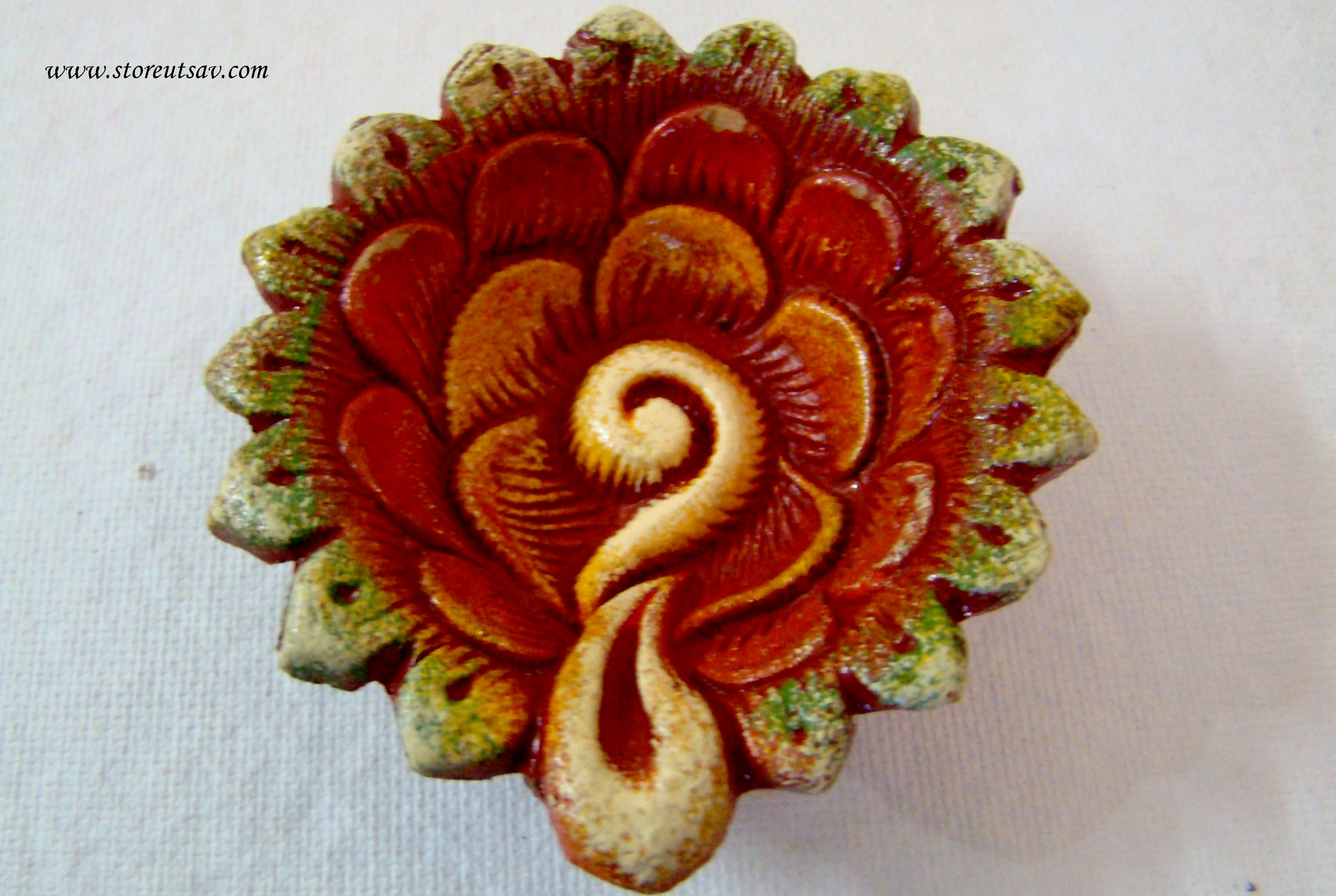 0857ff3f0 Buy Diya Terracotta Small Floral Multicolored - Online Shopping For Diyas  And Lights By Store Utsav Online