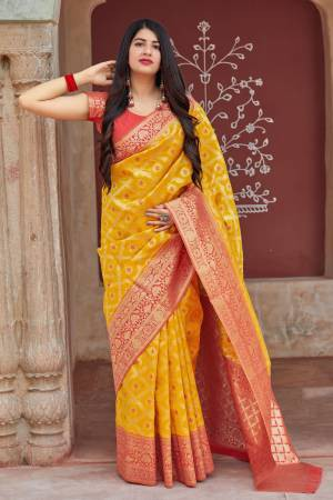 Yellow Banarasi ...
