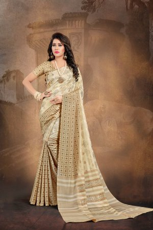 Beige Color Silk ...