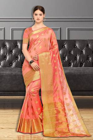 Peach Color Silk ...