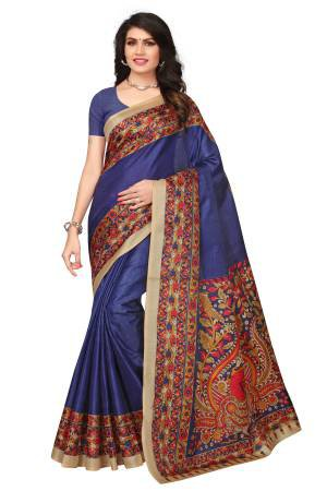 Blue Color Khadi ...