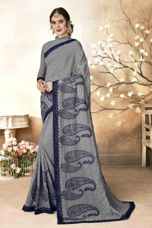 d5d3210532b088 Grey Saree - Shop Grey Sarees Online in India | Craftsvilla