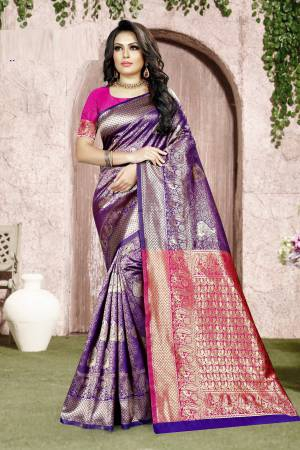 Purple Banarasi ...