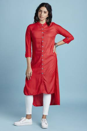 Red Rayon Plain ...