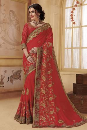 605c49fba5c Red Saree - Buy Red Color Designer Sarees Online at Craftsvilla