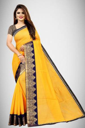 Yellow Chanderi ...