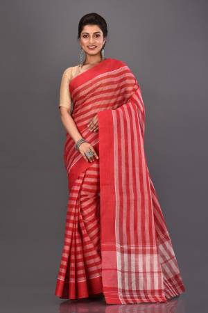 Red Cotton Woven ...