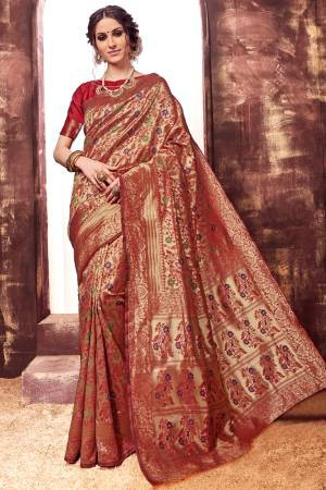 Brown Kota Silk ...