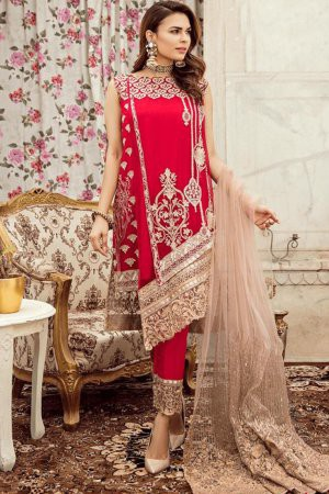 Red Georgette ...