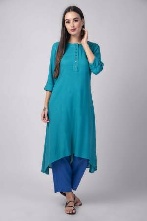 Teal Blue Rayon ...