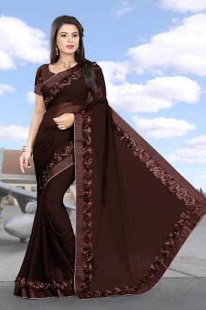 Brown Georgette ...