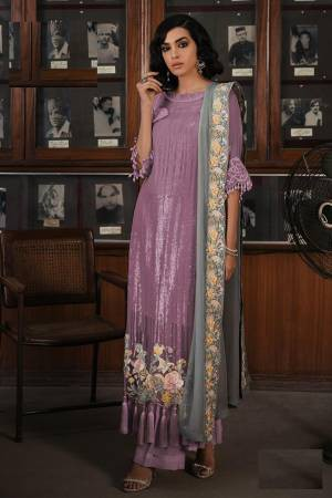 Purple Georgette ...