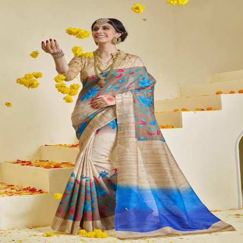 f71f1aa6320479 Buy Printed Bhagalpuri Cotton Saree Buy Sarees Online Online ...