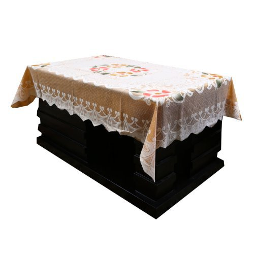 f8ae29f1589 1   3. Kuber Industries Designer Center Table Cover Cream Cloth Net 40 60  Inches