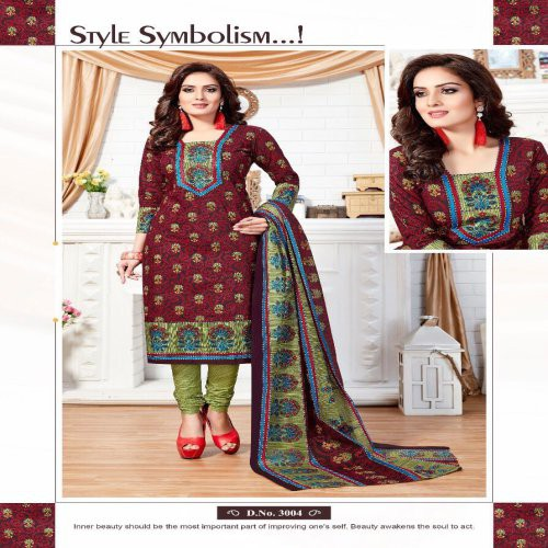 8423f91034 Buy Swapna Creation Printed Cotton Dress Material Online | Craftsvilla