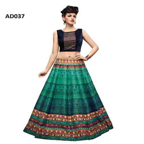 c6cc35238e Buy Multicolour And Blue Designer Fabric Tapeta Silk Partywear Lehenga Choli.  Online | Craftsvilla