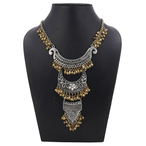 Craftsvilla Golden And Silver Plated Stylish High Quality Afgani Necklace