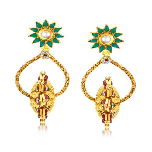 Craftsvilla Youthful Gold Plated Dangle Earring For Women