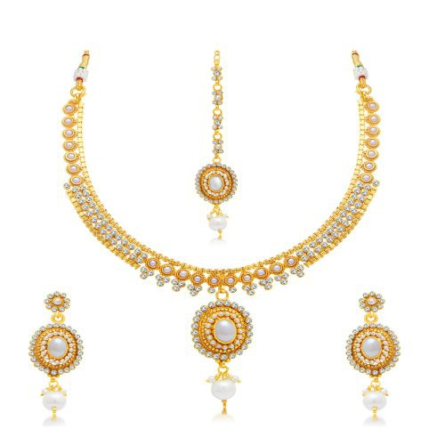 Craftsvilla Exquitely Gold Plated Choker Necklace Set For Women