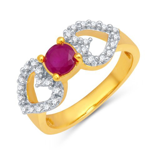 Craftsvilla Delightful Gold Plated Cz Ladies Ring