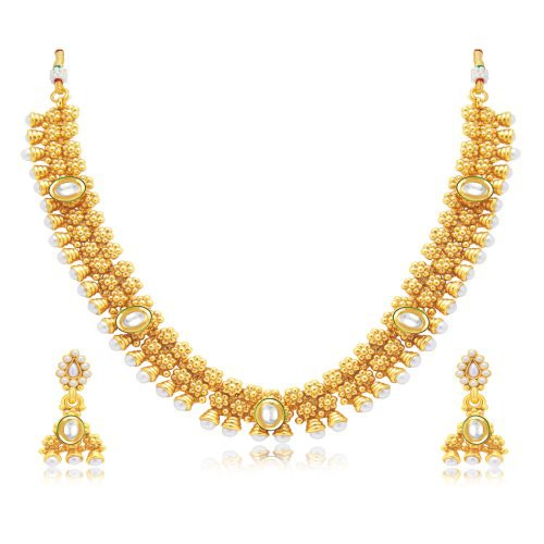 Craftsvilla Enchanting Gold Plated Choker Necklace Set For Women