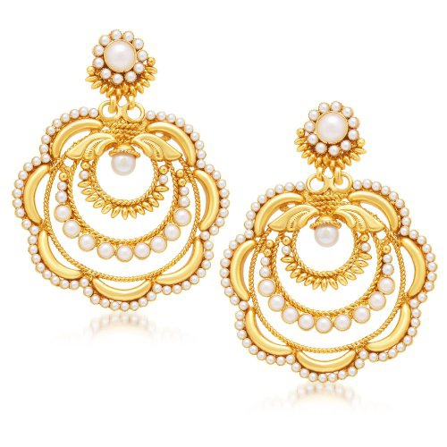 Craftsvilla Charming Gold Plated Dangle Earring