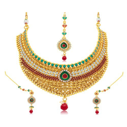 Craftsvilla Appealing Jalebi Gold Plated Choker Necklace Set
