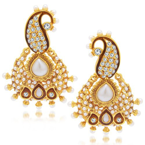 Craftsvilla Delightly Gold Plated Dangle Earring For Women