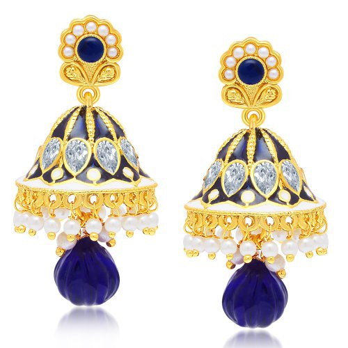 Craftsvilla Pleasing Gold Plated Jhumki Earring For Women
