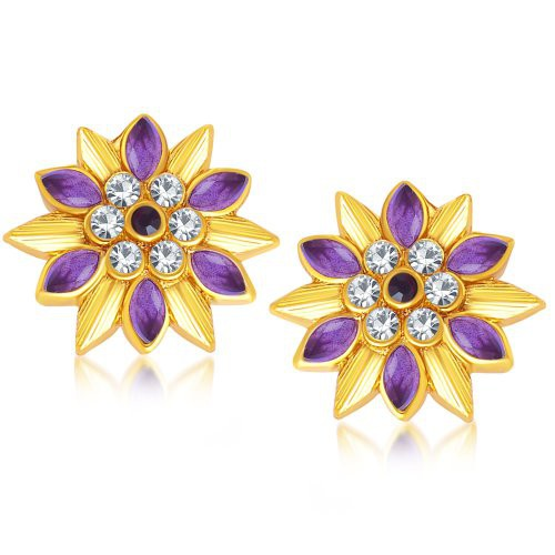 Craftsvilla Magnificent Gold Plated Stud Earring