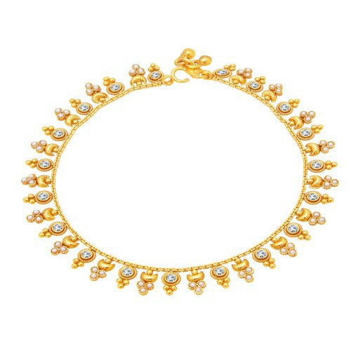 Craftsvilla Youthful Gold Plated Anklet For Women