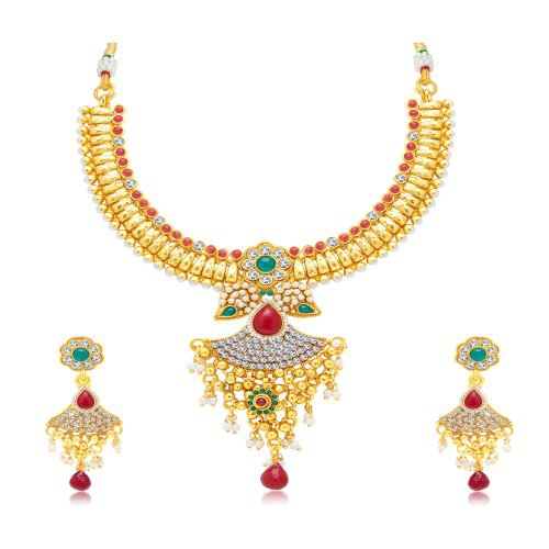 Craftsvilla Exquisite Gold Plated Choker Necklace Set