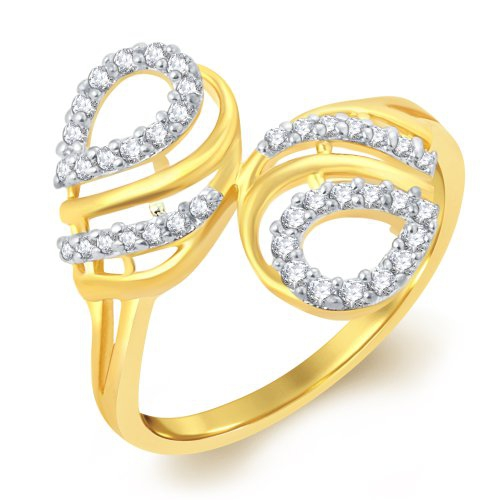 Craftsvilla Exquitely Gold Plated Solitaire Ring