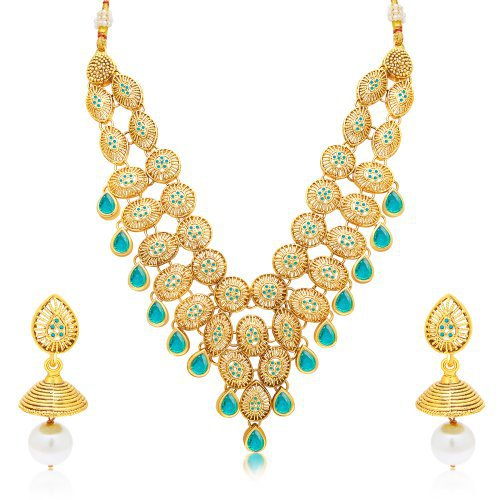 Craftsvilla Intricately Gold Plated Necklace Set