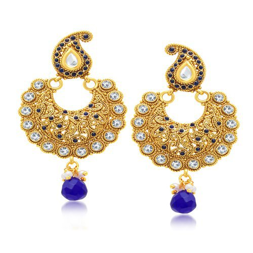 Craftsvilla Marquise Gold Plated Chandbali Earring