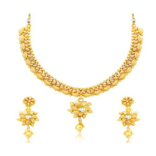 Craftsvilla Sublime Gold Plated Choker Necklace Set