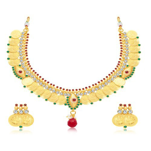 Craftsvilla Ritzy Gold Plated Traditional Necklace Set For Women