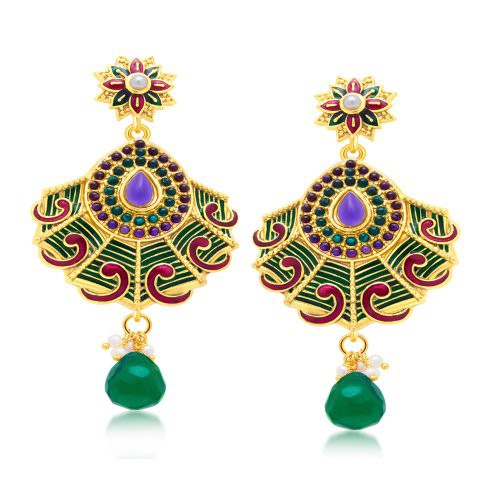 Craftsvilla Delightly Gold Plated Dangle Earring