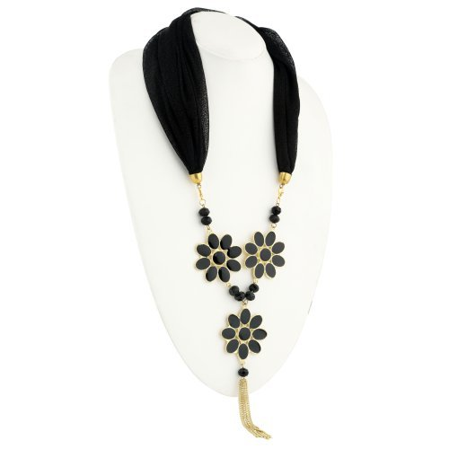 Craftsvilla Shimmering Gold Plated Scarf Necklace With Chain