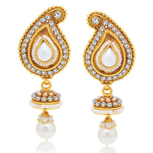 Craftsvilla Magnificent Gold Plated Dangle Earring For Women
