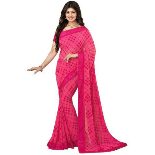 3ec618742cb04e Buy Women  s Latest Printed Georgette Saree With Blouse Piece Online ...