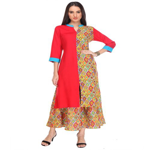 Anuswara Multicolor Printed Cotton Kurti