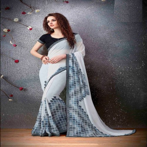 Craftsvilla Multicolor Georgette Printed Saree