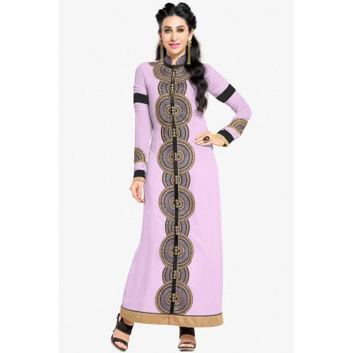Craftsvilla Purple Color Georgette Embroidered Salwar Suit Dress Material