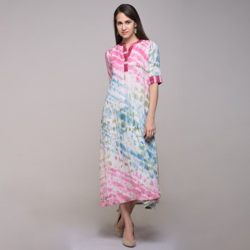 Miraasa Multicolor Color Tie Dyed Abstract Dress