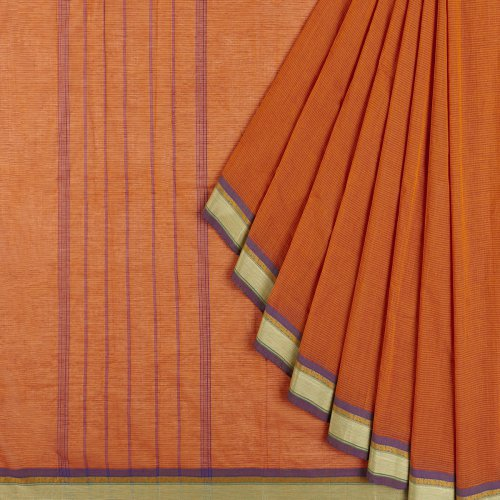 Miraasa Orange Handcrafted Chetand Saree In All Over Design Pattern