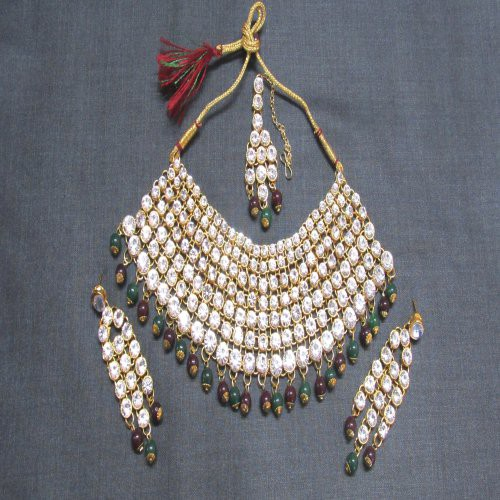9ae998870 Buy Craftsvilla Gold Plated Cubic Zirconia Hand Crafted Fashion Necklace  Set Online