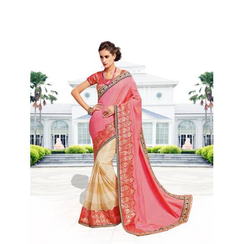 91bd6e9e33 Buy Craftsvilla Off White Color Art Silk Resham Embroidery Designer Saree  With Unstitched Blouse Material Online | Craftsvilla