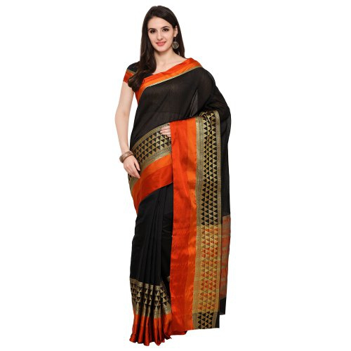 92846120072a7c Buy Craftsvilla Black Color Woven Work Art Silk Saree Online ...