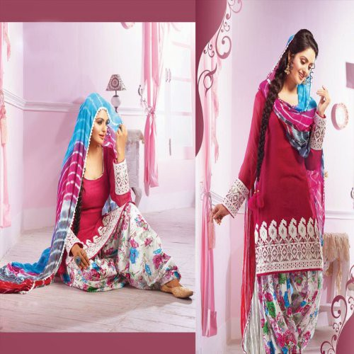 73f5f90670 Buy Indian Designer Party Wear And Wedding Wear Patiala Salwar Suit Online  | Craftsvilla